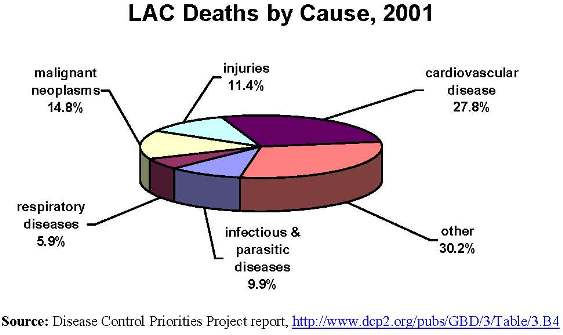 LAC Causes of Death, 2001