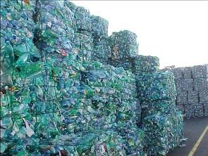 Baled PET bottles