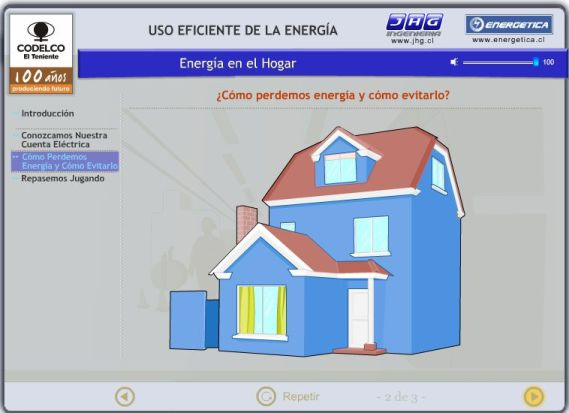 Chilean flash video on efficient energy use in the home