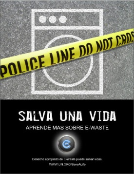 e-waste poster in Spanish