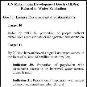 The MDGs as They Relate to Water & Sanitation