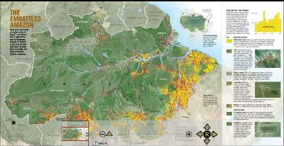 click to go to National Geographic's online interactive map on the Amazonian rainforest