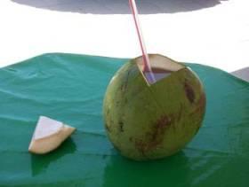 A cool agua de coco - Nature's sport drink