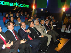 Environment Minister Lozano at the Lexmark movie event