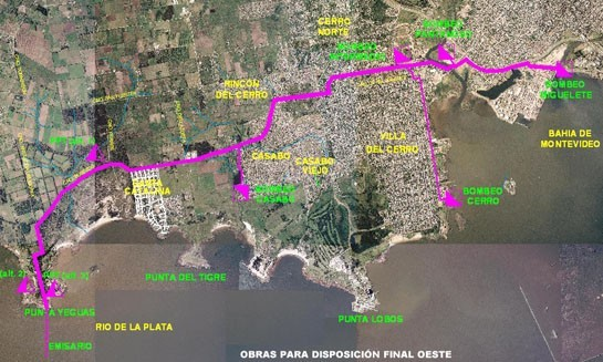 map of Montevideo's sanitation plans