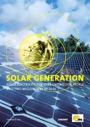 cover of the EPIA/Greenpeace Report on Solar Market Prospects