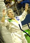 Brazilian astronaut Marcos Pontes in the Rosas de Ouro parade