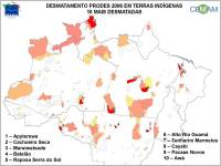 10 Most Deforested Indigenous Reserves in Brazilian Amazon (click to enlarge)