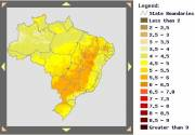 Solar Map of Brazil