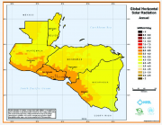 Solar Potential Map for Central America