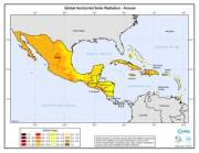 Map of Global Horizontal Solar Radiation in Mexico, Central America & Caribbean Islands (click to enlarge)
