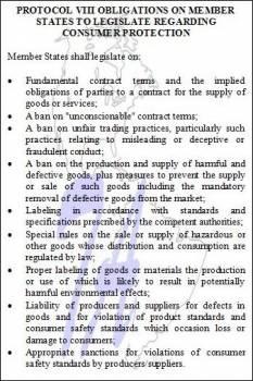 Protocol VIII Consumer Legislation Obligations (click to enlarge)