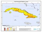 Map of Direct Normal Solar Radiation (Annual) for Cuba (click to enlarge)