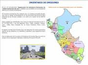 Website with Emission Inventories for Peru's Departments