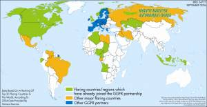 World Map of Gas Flaring Countries