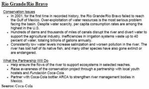 WWF-Coca-Cola commitments regaring Rio Grande/Rio Bravo (click to enlarge)
