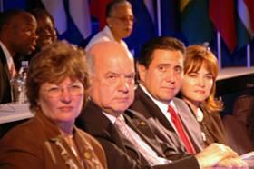 PAHO Dir. Mirtes, OAS SG Insulza, Panama's President & First Lady