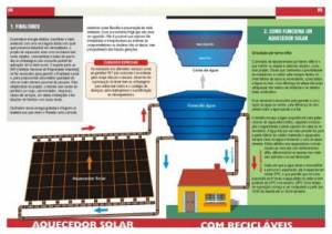 a page from the instruction manual to build a solar water heater